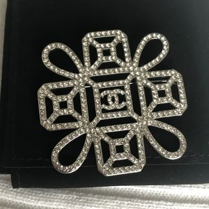 Chanel Authentic Crystal Brooch